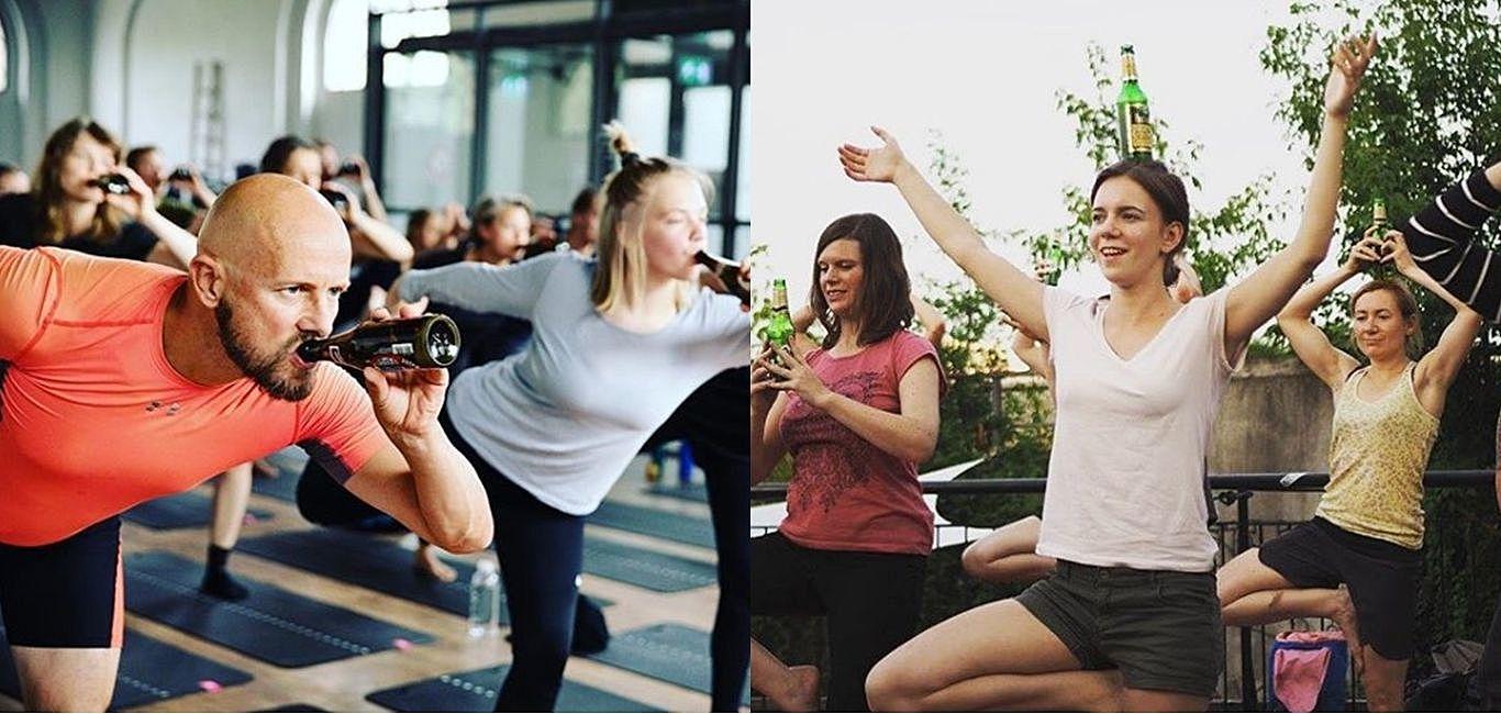 「喝酒+健身」蹦出新滋味,讓我們一窺風靡全球的啤酒瑜珈!