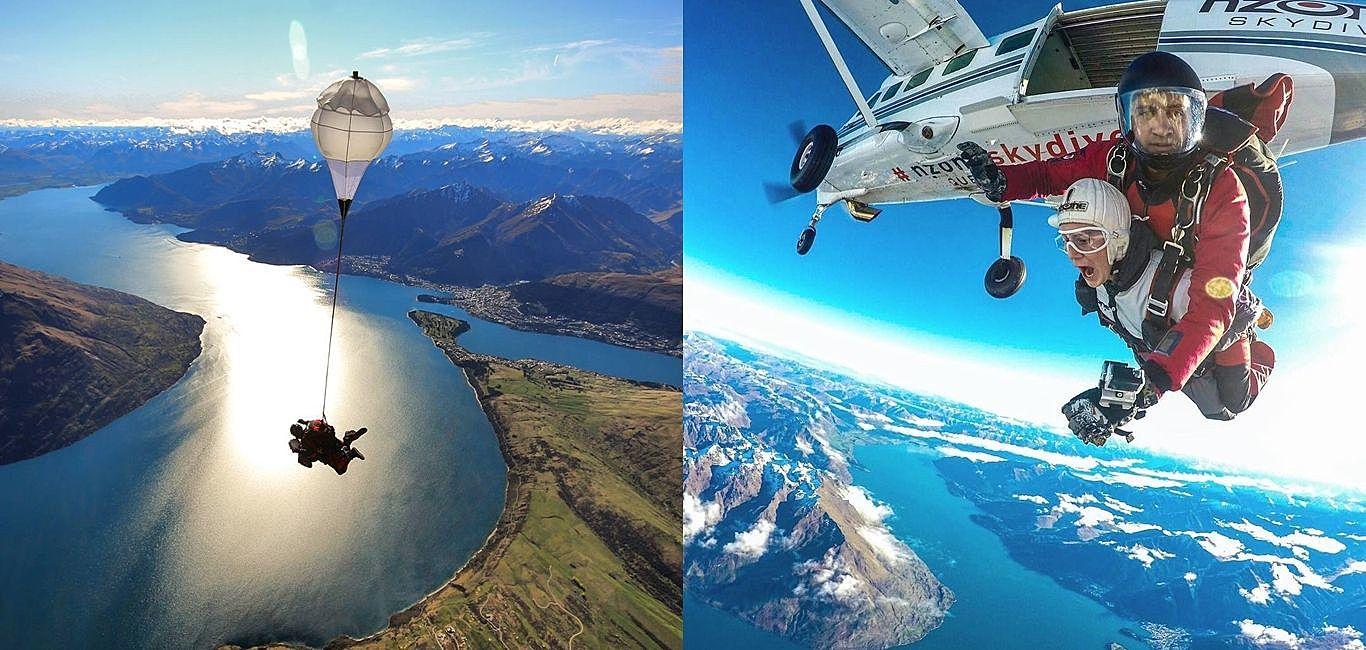 在離地15000英尺的高空中打卡,前往紐西蘭皇后鎮「挑戰人生極限」